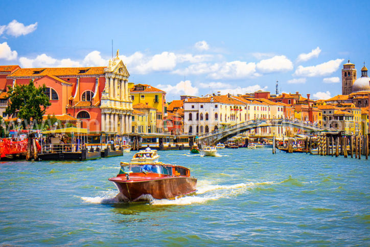 Venedig (12) Canal Grande Ponte Rialto Acryl, Alu Dibond, Leinwand