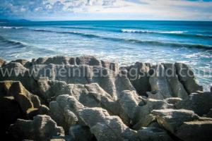 Pancake Rocks Neuseeland Leinwand Alu Dibond Acryl
