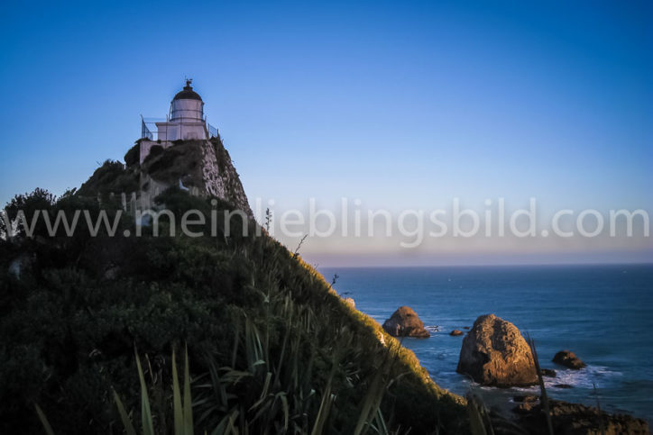 Nugget Point Neuseeland Leuchtturm Lighthouse Leinwand, Acryl, Alu Dibond