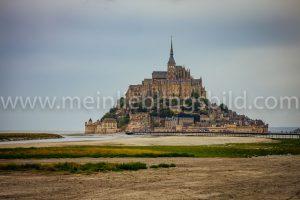 Alu Dibond, Acryl Mont Saint Michel Leinwand Foto Poster kaufen
