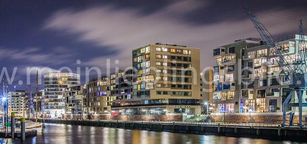 Panorama Hafencity Hamburg Leinwand
