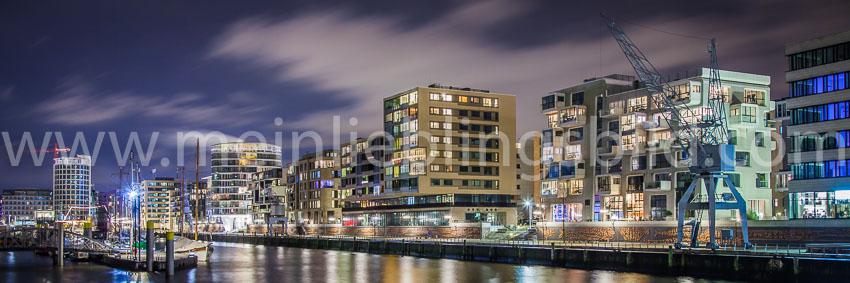 Alu Dibond, Acryl: Panorama Hafencity Hamburg Leinwand