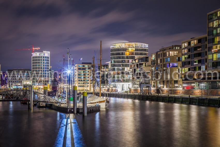Alu Dibond, Acryl Hamburg Hafencity Leinwandbild kaufen