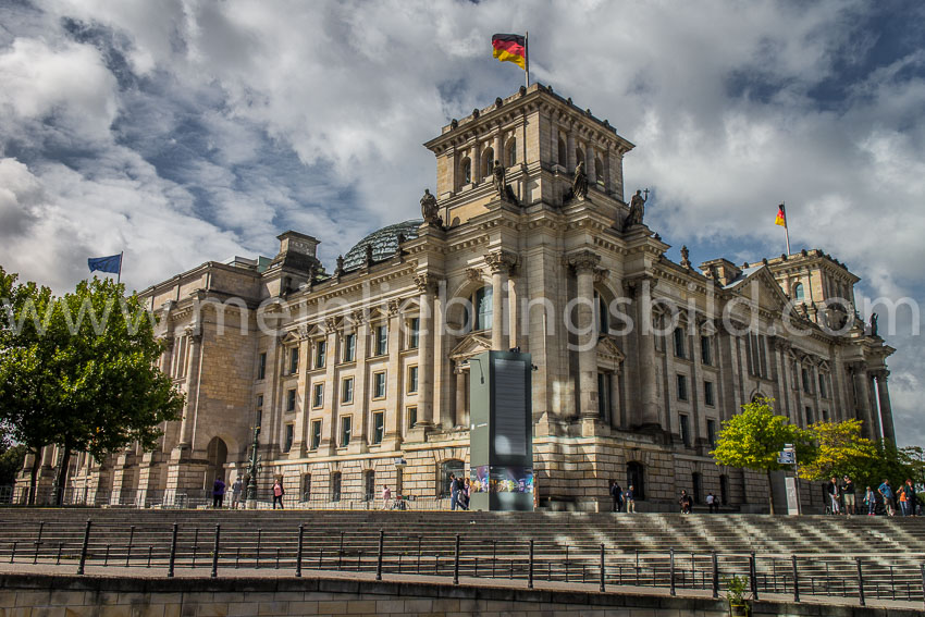 Reichstag von hinten (Spreeseite) Leinwand, Alu Dibond, Acryl, Poster